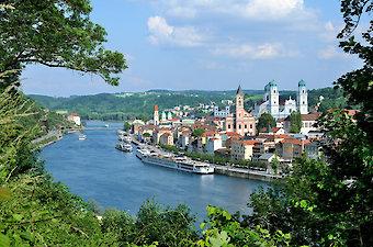 Ausflugsziel Dreiflüssestadt Passau in Bayern