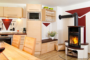 Wohn-/Essbereich im Ferienhaus in Neureichenau