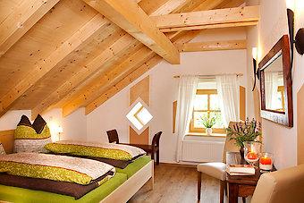Schlafzimmer im Ferienhaus in Bayern