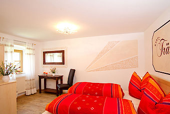 Schlafzimmer im Ferienhaus im Dreiländereck Bayerischer Wald